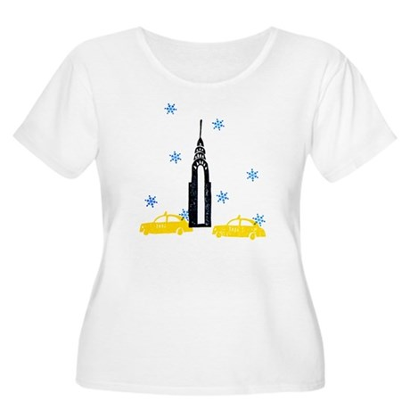 NYC Holiday Women's Plus Size Scoop Neck T-Shirt
