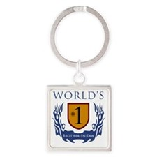 Shield_BrotherInLaw Square Keychain