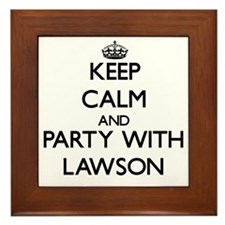Keep Calm and Party with Lawson Framed Tile