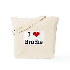 I Love Brodie Tote Bag