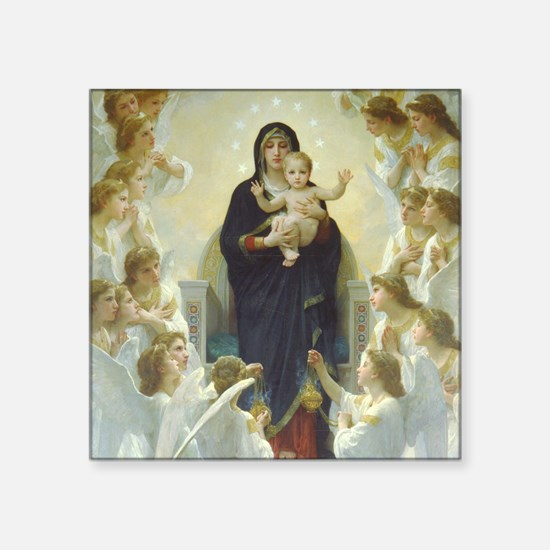 "Bouguereau Art calendar Jan Square Sticker 3"" x 3"""
