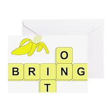 BananaGram_horizontal Greeting Card