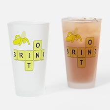 BananaGram_horizontal Drinking Glass