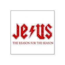 "jesus reason for season-whi Square Sticker 3"" x 3"""