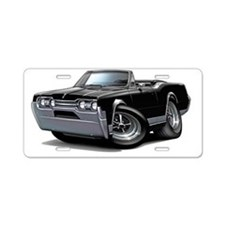 1967 Olds Cutlass Black Con Aluminum License Plate