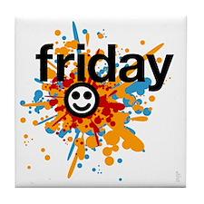 Happy Friday tee shirts - celebrate t Tile Coaster