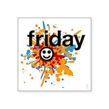 "Happy Friday tee shirts - c Square Sticker 3"" x 3"""
