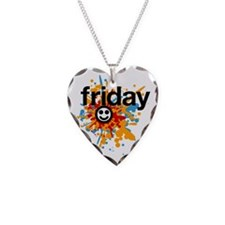 Happy Friday tee shirts - cel Necklace