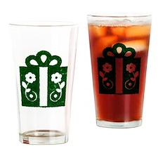 Christmas Present Drinking Glass