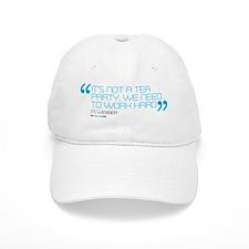 its not a tea party mug Baseball Cap