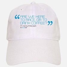 are we here to race or drink coffee mug templa Baseball Baseball Cap