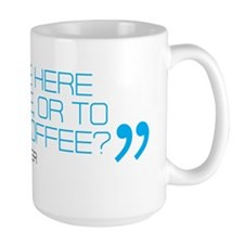 are we here to race or drink coffee mug Mug