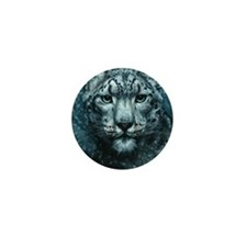 Snow Leopard Mini Button
