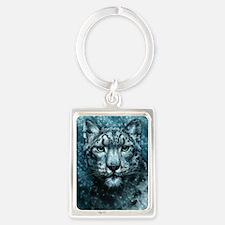 Snow Leopard Portrait Keychain