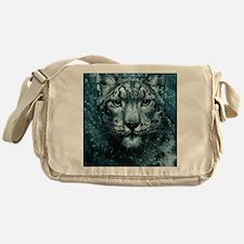 Snow Leopard Messenger Bag