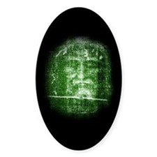 Jesus - Shroud of Turin Oval Decal