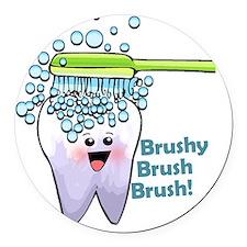 brushybrushbrush Round Car Magnet