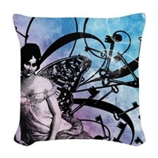 keys-and-fairy-wings-blue_13-5 Woven Throw Pillow