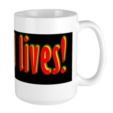 black bg  Ishmael lives Mug