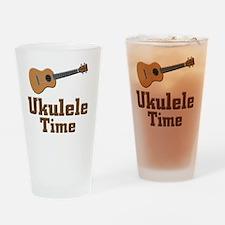 Ukulele Time Drinking Glass