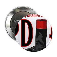"""pdjf logo white backgrd 2.25"""" Button"""