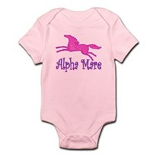 Alpha Mare. Pink Horse Infant Bodysuit