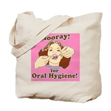 Hooray for Oral Hygiene Retro Colorp Tote Bag