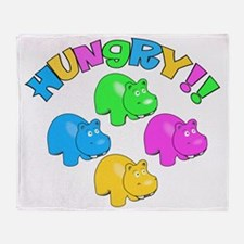 Hungry Hungry Throw Blanket