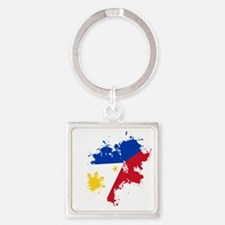 cp pinoy pride back Square Keychain
