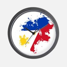 cp pinoy pride back Wall Clock