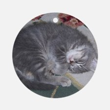 Gracie Sleeping Round Ornament