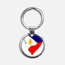 piheart Round Keychain