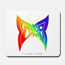 Madison rainbow butterfly Mousepad