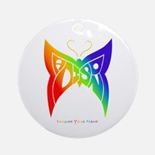 Madison rainbow butterfly Ornament (Round)