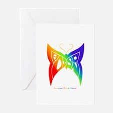 Madison rainbow butterfly Greeting Cards (Package