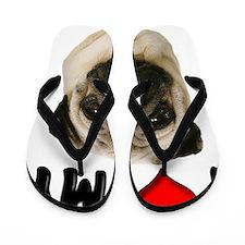 I Love My Pug Flip Flops