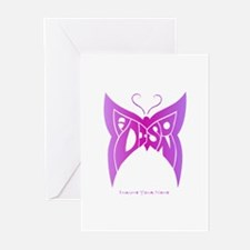 Madison pink butterfly Greeting Cards (Package of