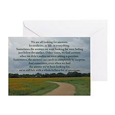 answersbutton Greeting Card