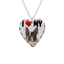 I Love My Boston Terrier Necklace