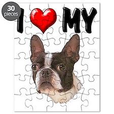 I Love My Boston Terrier Puzzle
