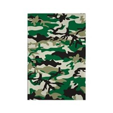 Green-Camo-Pattern Rectangle Magnet
