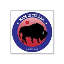 "Bison2 Square Sticker 3"" x 3"""