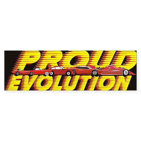 evolution cars square Sticker (Bumper)