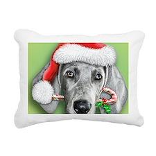 Weimaraner Christmas stu Rectangular Canvas Pillow