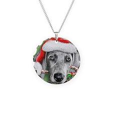Weimaraner Christmas stuff Necklace