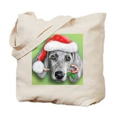 Weimaraner Christmas stuff Tote Bag