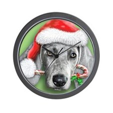 Weimaraner Christmas stuff Wall Clock