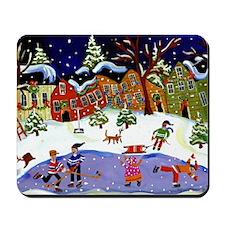 winterfun4 Mousepad