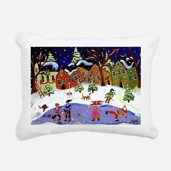 winterfun4 Rectangular Canvas Pillow