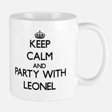 Keep Calm and Party with Leonel Mugs